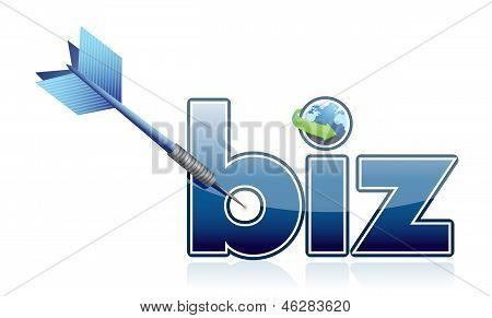 Success Business Target Illustration