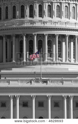 Flag On The Us Capital Building