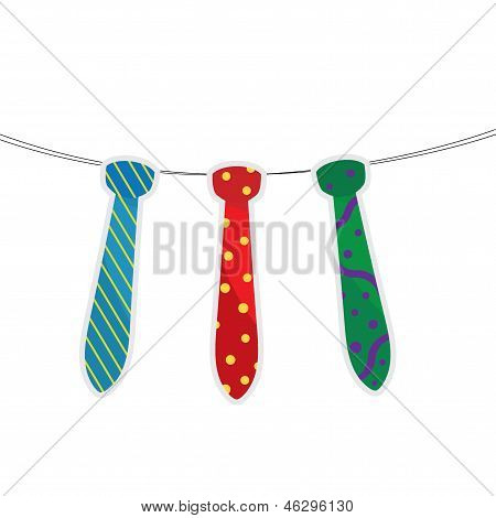 Three Father's Tie Hanging