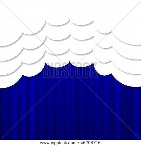Bright Blue Portiere