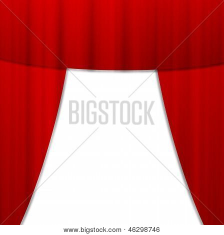 Bright Red Portiere,  Background For A Design