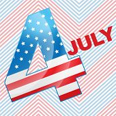 vector 4th of july design background poster