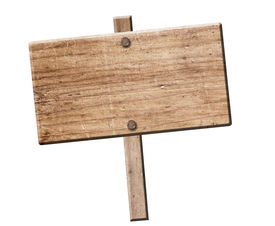 Wood Sign Isolated.