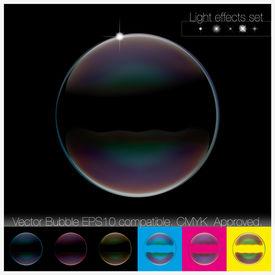 Colorful transparent Soap Bubble set