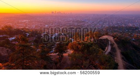 Sunrise View From Griffith Observatory