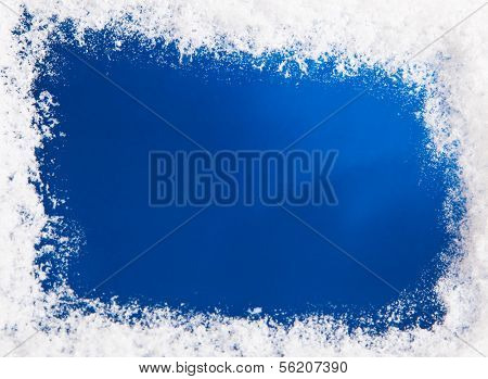 Snow on blue pattern. Plenty of text space