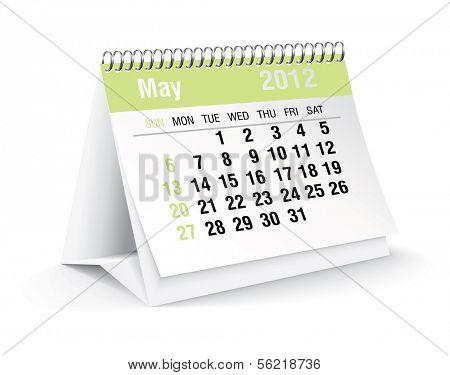 may 2012 desk calendar poster