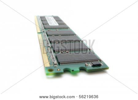 DIMM memory module isolated on white