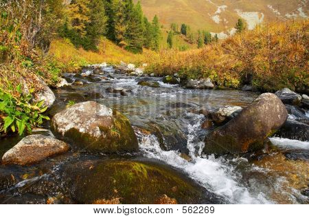 River In The Mountais.