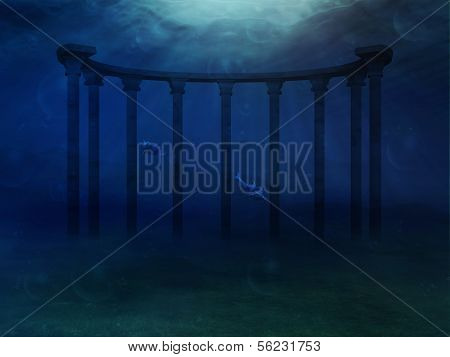 Surreal Underwater Landscape
