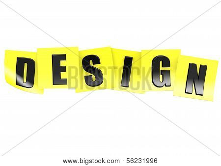 Design in yellow note