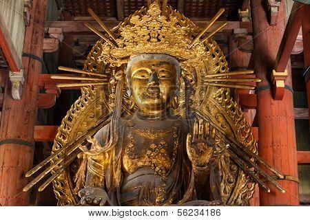 Kokuzo Bosatsu (Chinese Godess) at Todaiji Temple in Nara