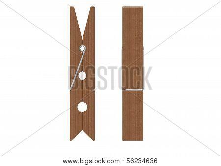 Wooden cloth pin
