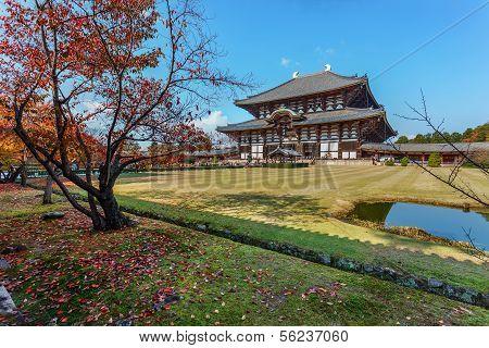 Great Buddha Hall at Todaiji Temple in Nara poster