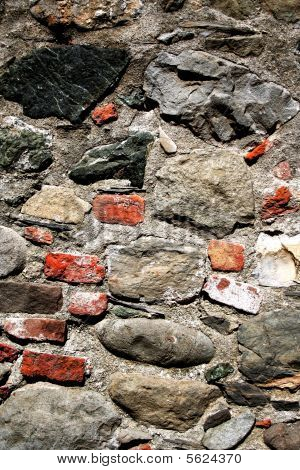 Red and gray stones texture