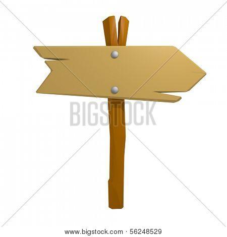 Wooden signpost. 3d render