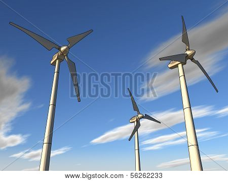 illustration of a wind plant