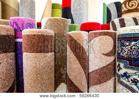 Color Textured Carpet Surface Detail Specific View