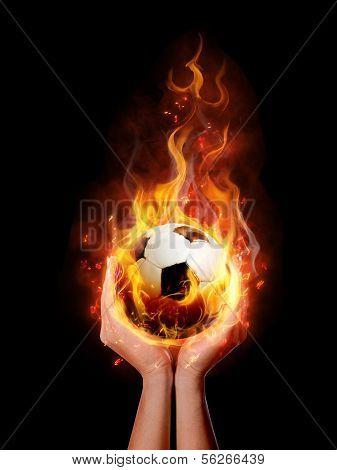 fire ball in hand