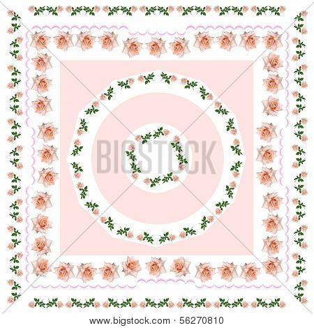 pink roses as element of pattern