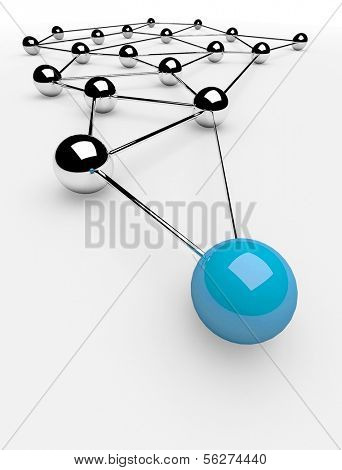 Metaphor of communication. Concept. 3d illustration