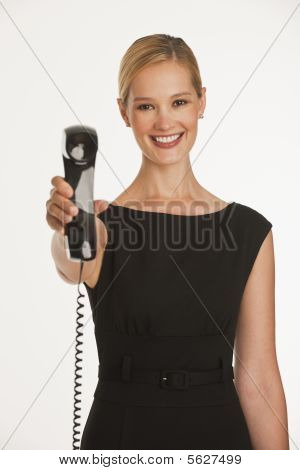 Businesswoman With Business Phone