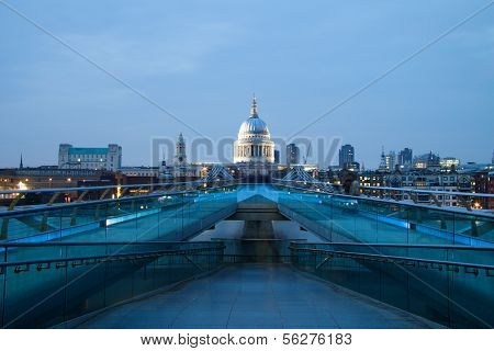 St Pauls Cathedral View From The Millennium Bridge, London