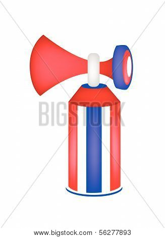Red, White And Blue Stripe Of Air Horn