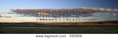 Panorama Of Clouds Over Ranchlands, Montana.