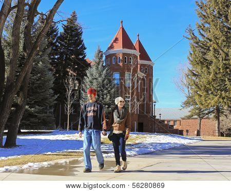 A Young Couple At Northern Arizona University