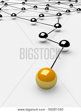 Metaphor of communication. Concept. 3d illustration poster