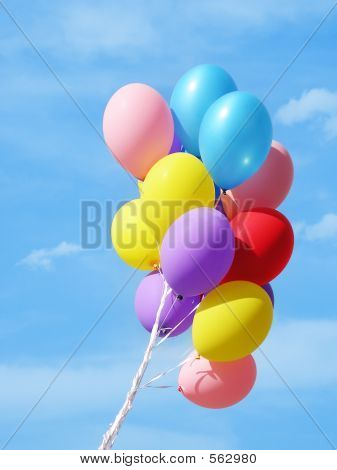 Colorful Balloons, Sky