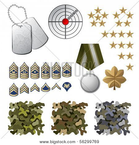 Military icons and design elements