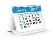 january 2012 desk calendar poster