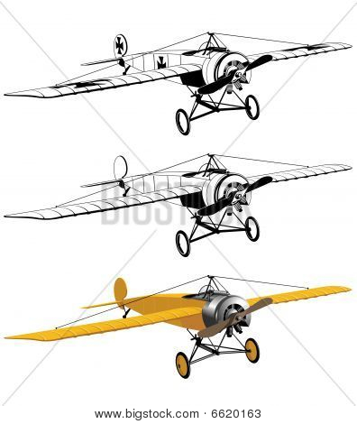 Monoplane black and color