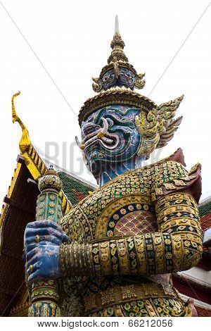 The Giant Guard In Wat Phra Keaw