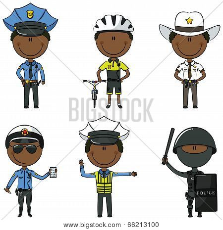 African-american Police Men