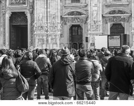 Black And White Mass At Duomo Di Milano