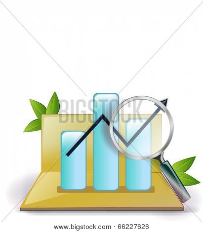 The view of graph in the bankbook