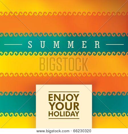 Summer background design. Vector illustration.