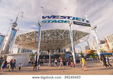 Westjet Stage At Harbourfront Centre - Toronto, Canada - May 31, 2014