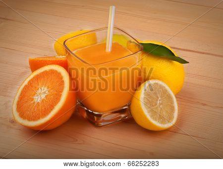 orange juice and lemon