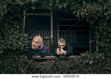 Masked Men With A Gun