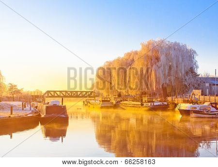 Great Ouse Riverside Winter Morning