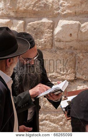 Orthodox Jews Pray At Western Wall, Jerusalem
