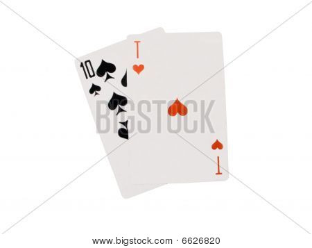 cards Is Isolated On White