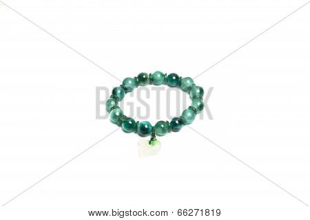 jade bracelet isolated on a white background poster