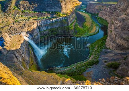 The Palouse Falls and Palouse Canyon of Washington State.