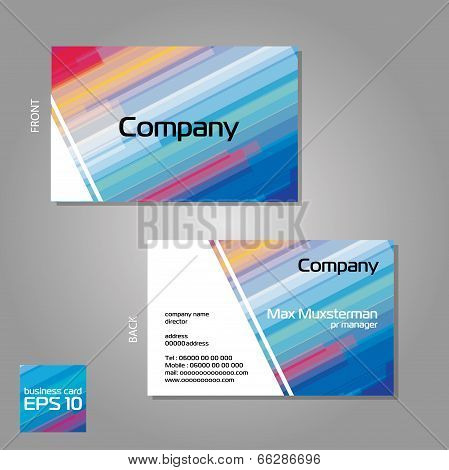 vector template aloof two business card