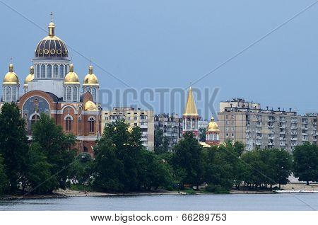 Church Of The Nativity At Obolon Embankment,kiev,ukraine